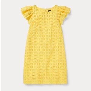 Ralph Lauren Yellow Eyelet Dress for Girls
